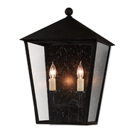 Currey & Company Lighting Bening Medium Outdoor Wall Sconce 5500-0011 - Midnight