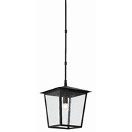 Currey & Company Lighting Bening Small Outdoor Lantern 9500-0001 - Midnight