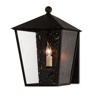 Currey & Company Lighting Bening Small Outdoor Wall Sconce 5500-0012 - Midnight