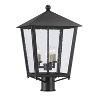 Currey & Company Lighting Bening Small Post Light 9600-0005 - Midnight