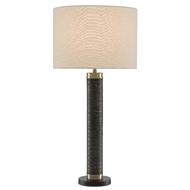 Currey & Company Lighting Bokeh Table Lamp 6000-0481 - Gray Antique/Matte Brass/Black