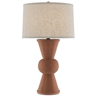 Currey & Company Lighting Brigade Table Lamp 6000-0502 - Speckled Terracotta/Satin Black