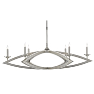 Currey & Company Lighting Buteux Chandelier 9000-0505 - Contemporary Silver Leaf