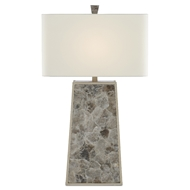 Currey & Company Lighting Calloway Table Lamp 6000-0429 - Light Mica/Silver Leaf