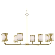 Currey & Company Lighting Carnaby Chandelier 9000-0483 - Brushed Brass