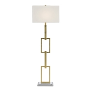 Currey & Company Lighting Catena Floor Lamp 8000-0064 - Gold Leaf/White