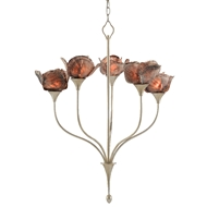 Currey & Company Lighting Catrice Chandelier 9000-0479 - Silver Leaf/Natural