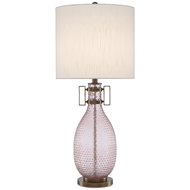 Currey & Company Lighting Cavalli Table Lamp 6000-0450 - Smoke Rose/Antique Brass