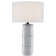 Currey & Company Lighting Chaarla Table Lamp 6000-0445 - Off White/Gray