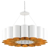 Currey & Company Lighting Chauveau Chandelier 9000-0513 - Pearl White/Contemporary Gold Leaf