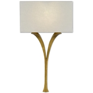 Currey & Company Lighting Choisy Wall Sconce 5000-0124 - Antique Gold Leaf