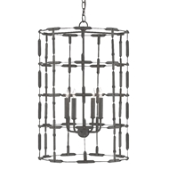 Currey & Company Lighting Coyne Chandelier 9000-0449 - Textured Hiroshi Gray