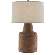 Currey & Company Lighting Crossroads Table Lamp 6000-0499 - Rough Terracotta/Satin Black