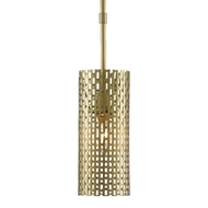 Currey & Company Lighting Dallow Pendant 9000-0484 - Brushed Brass