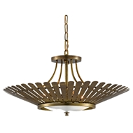 Currey & Company Lighting Davina Chandelier 9000-0494 - Vintage Brass