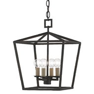 Currey & Company Lighting Denison Black Small Lantern 9000-0456 - Mol Black