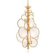 Currey & Company Lighting Dish Chandelier 9000-0437 - Contemporary Gold Leaf