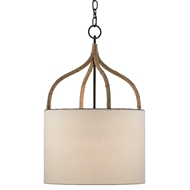 Currey & Company Lighting Dunning Pendant 9000-0445 - Blacksmith/Natural