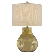 Currey & Company Lighting Eustace Table Lamp 6000-0480 - Shiny Gold