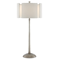 Currey & Company Lighting Fessura Table Lamp 6000-0440 - Textured Silver Leaf
