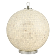 Currey & Company Lighting Finhorn Table Lamp 6000-0494 - Pearl/Chinois Silver Granello