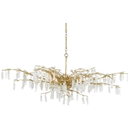 Currey & Company Lighting Forest Dawn Chandelier 9000-0438 - Washed Lucerne Gold/Natural