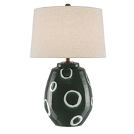 Currey & Company Lighting Gallus Table Lamp 6000-0444 - Green/White