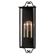 Currey & Company Lighting Giatti Large Outdoor Wall Sconce 5500-0007 - Midnight