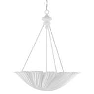 Currey & Company Lighting Hadley Chandelier 9000-0440 - Rough Gesso White