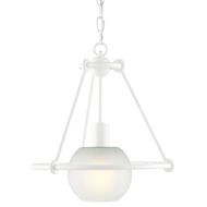 Currey & Company Lighting Halliday Pendant 9000-0442 - Gesso White