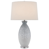 Currey & Company Lighting Hatira Table Lamp 6000-0467 - Pale Blue/White