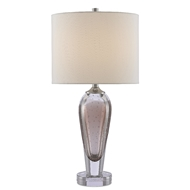Currey & Company Lighting Haydon Table Lamp 6000-0469 - Brown/Clear/Polished Nickel