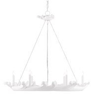 Currey & Company Lighting Honour Chandelier 9000-0441 - Gesso White