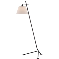 Currey & Company Lighting Kiowa Floor Lamp 8000-0066 - Satin Black