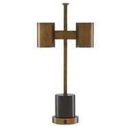 Currey & Company Lighting Kiseu Table Lamp 6000-0448 - Antique Brass/Black
