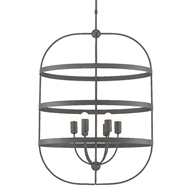 Currey & Company Lighting Lathan Chandelier 9000-0450 - Graphite