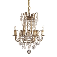 Currey & Company Lighting Laureate Mini Chandelier 9543 - Rhine Gold