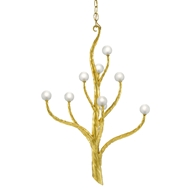 Currey & Company Lighting Loucinda Small Chandelier 9000-0517 - Contemporary Gold Leaf