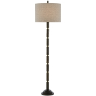 Currey & Company Lighting Lovat Floor Lamp 8000-0072 - Dark Antique Brass/Matte Brass