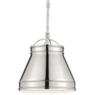 Currey & Company Lighting Lumley Nickel Pendant 9000-0485 - Polished Nickel