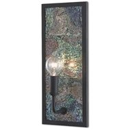 Currey & Company Lighting Marjon Wall Sconce 5000-0136 - London Black/Iridescent