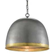 Currey & Company Lighting Matute Pendant 9000-0477 - Pewter/Polished Brass