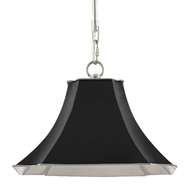 Currey & Company Lighting Melissas Pendant 9000-0476 - Black/Silver