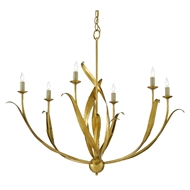 Currey & Company Lighting Menefee Chandelier 9000-0444 - Antique Gold Leaf