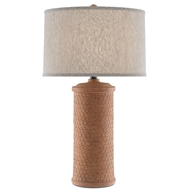 Currey & Company Lighting Mesoma Table Lamp 6000-0488 - Speckled Terracotta/Bronze Gold