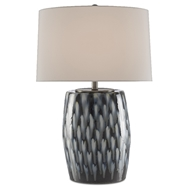 Currey & Company Lighting Milner Blue Table Lamp 6000-0456 - Indigo/Cloud
