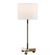 Currey & Company Lighting Minka Table Lamp 6000-0504 - Vintage Brass/Black