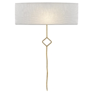 Currey & Company Lighting Mistral Wall Sconce 5900-0028 - Contemporary Gold Leaf