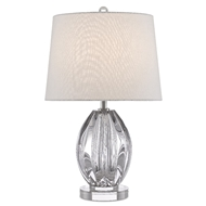 Currey & Company Lighting Monterey Table Lamp 6000-0472 - Clear/Polished Nickel