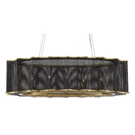 Currey & Company Lighting Nightwood Chandelier 9000-0512 - Mol Black/Contemporary Gold Leaf